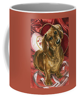 Coffee Mug featuring the mixed media Please Be Mine by Barbara Keith