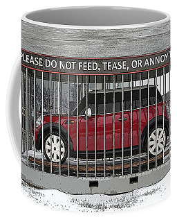 Please Do Not Feed Tease Or Annoy The Mini Coffee Mug by Teresa Zieba