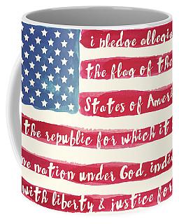 Pledge Of Allegiance American Flag Coffee Mug