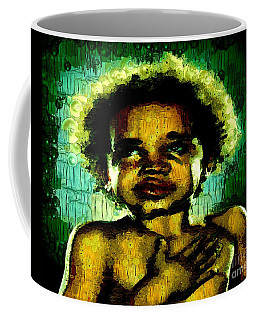 Coffee Mug featuring the painting Pledge Of Allegiance by Catherine Lott