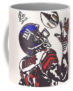 Coffee Mug featuring the drawing Plexico Burress by Jeremiah Colley