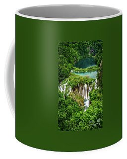 Plitvice Lakes National Park - A Heavenly Crystal Clear Waterfall Vista, Croatia Coffee Mug