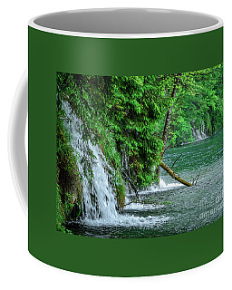 Plitvice Lakes National Park, Croatia - The Intersection Of Upper And Lower Lakes Coffee Mug
