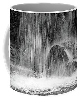 Plitvice Waterfall Black And White Closeup - Plitivice Lakes National Park, Croatia Coffee Mug