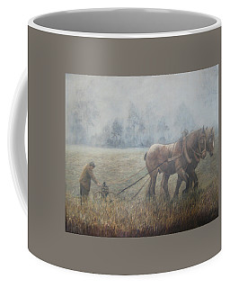 Plowing It The Old Way Coffee Mug by Donna Tucker