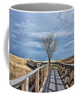Plum Island Walkway Coffee Mug by Tricia Marchlik