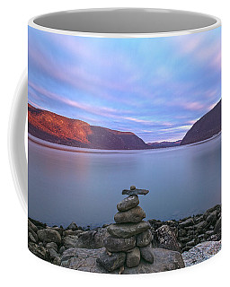 Plum  Point Rock Cairn At Sunset Coffee Mug