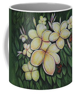 Coffee Mug featuring the painting Plumeria by Lynn Buettner