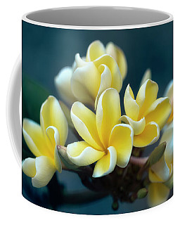 Plumerias Out Of The Blue Coffee Mug