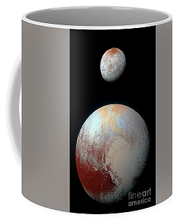 Coffee Mug featuring the photograph Pluto And Charon by Nicholas Burningham