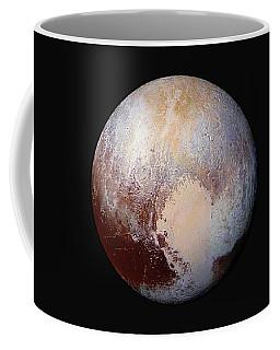 Pluto Dazzles In False Color Coffee Mug by Nasa