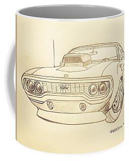 Plymouth Gtx American Muscle Car - Antique  Coffee Mug