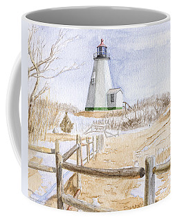 Coffee Mug featuring the painting Plymouth Light In Winter by Dominic White
