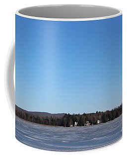 Poconos, The Lake In January Coffee Mug