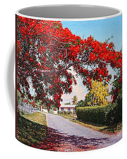 Poinciana Shadows Coffee Mug