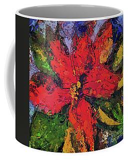 Poinsettia Christmas Flower Coffee Mug by Dragica Micki Fortuna