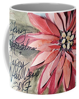 Poinsettia Christmas Coffee Mug