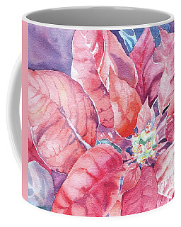 Coffee Mug featuring the painting Poinsettia Glory by Mary Haley-Rocks