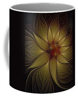 Poinsettia In Gold Coffee Mug