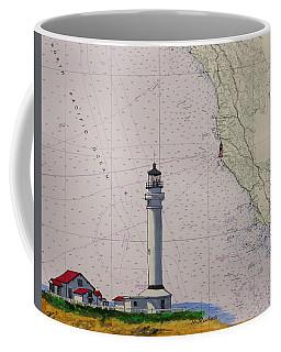 Point Arena Lighthouse On A Noaa Nautical Chart Coffee Mug