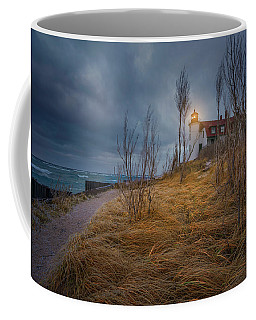 Coffee Mug featuring the photograph Point Betsie Lighthouse In Frost by Thomas Gaitley