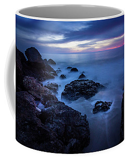Coffee Mug featuring the photograph Point Dume Rock Formations by Andy Konieczny