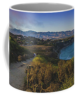 Point Dume Sunset Panorama Coffee Mug