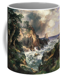 Coffee Mug featuring the painting Point Lobos Monterey California by Thomas Moran