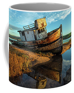 Point Reyes And Its Reflection - Wide Coffee Mug