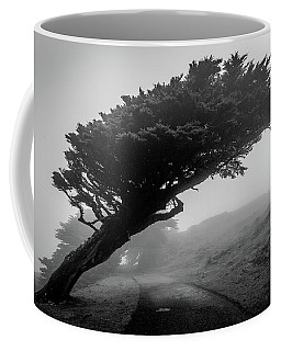Point Reyes Fog Black And White Coffee Mug
