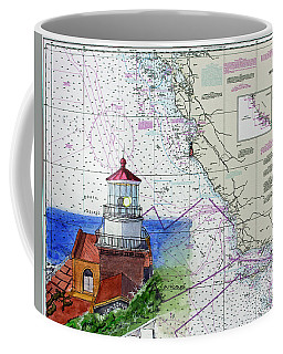 Point Sur Light Station Coffee Mug by Mike Robles
