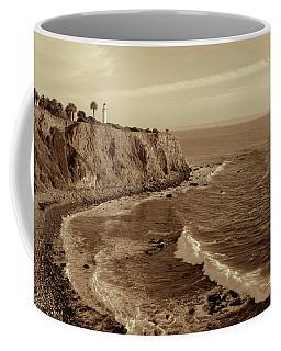 Point Vicente Lighthouse Palos Verdes California - Sepia Rendition Coffee Mug