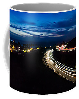 Point Vincente Light Trails Coffee Mug by Ed Clark