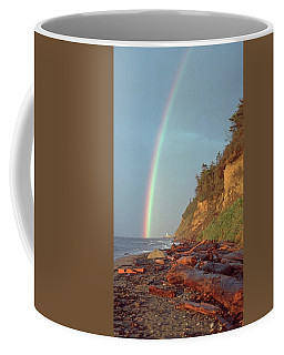 Coffee Mug featuring the photograph Point Wilson by Laurie Stewart