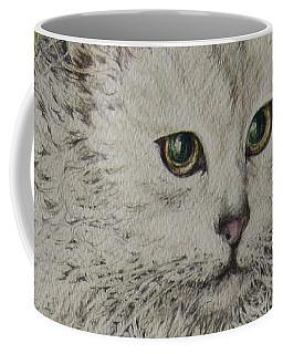 Poised Cat Coffee Mug by Kim Tran