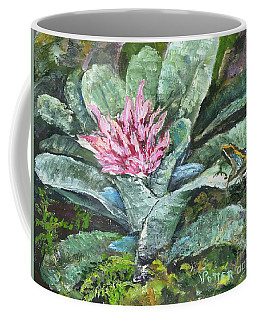 Poison Dart Frog On Bromeliad Coffee Mug