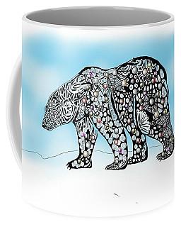 Polar Bear Doodle Coffee Mug