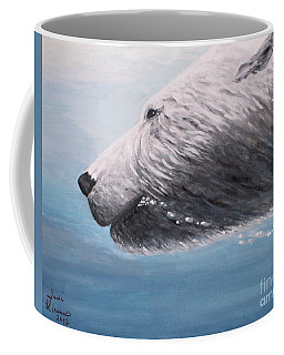 Polar Bear Splash Coffee Mug by Judy Kirouac