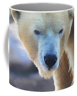 Polar Bear Wooden Texture Coffee Mug by Dan Sproul