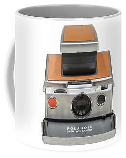 Polaroid Sx70 On White Coffee Mug
