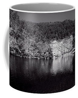 Polk County Reflection In Black And White Coffee Mug