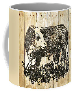 Coffee Mug featuring the photograph Polled Hereford Bull 11 by Larry Campbell