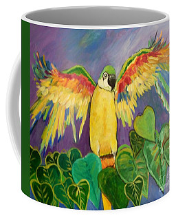 Coffee Mug featuring the painting Polly Wants More Than A Cracker by Rosemary Aubut