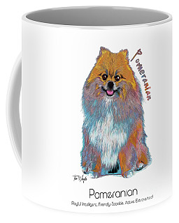 Pomeranian Pop Art Coffee Mug