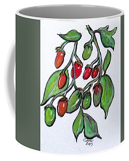 Coffee Mug featuring the painting Pomodoro Buds by Clyde J Kell