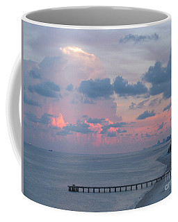 Pompano Pier At Sunset Coffee Mug
