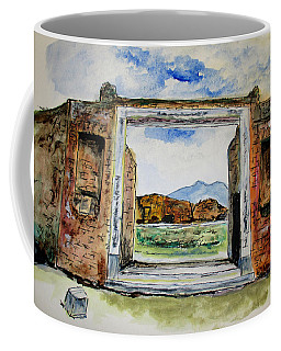 Pompeii Doorway Coffee Mug