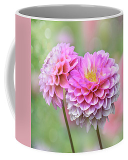 Coffee Mug featuring the photograph Pompon Dahlias by John Poon
