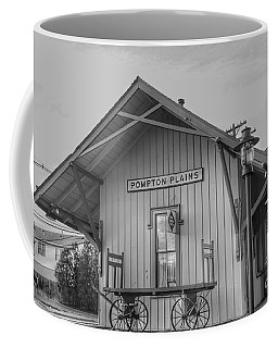 Pompton Plains Railroad Station And Baggage Cart Coffee Mug
