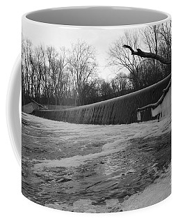 Falling Water On The Pompton Spillway In Winter Coffee Mug